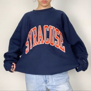Vintage champion syracuse spell out sweatshirt